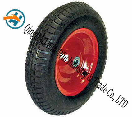 "Pneumatic Rubber Wheel for Platform Trucks Alloy Wheel (16""X4.00-8)"