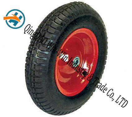 "Pneumatic Rubber Wheel for Platform Trucks Alloy Wheel (16""X4.00-8)"