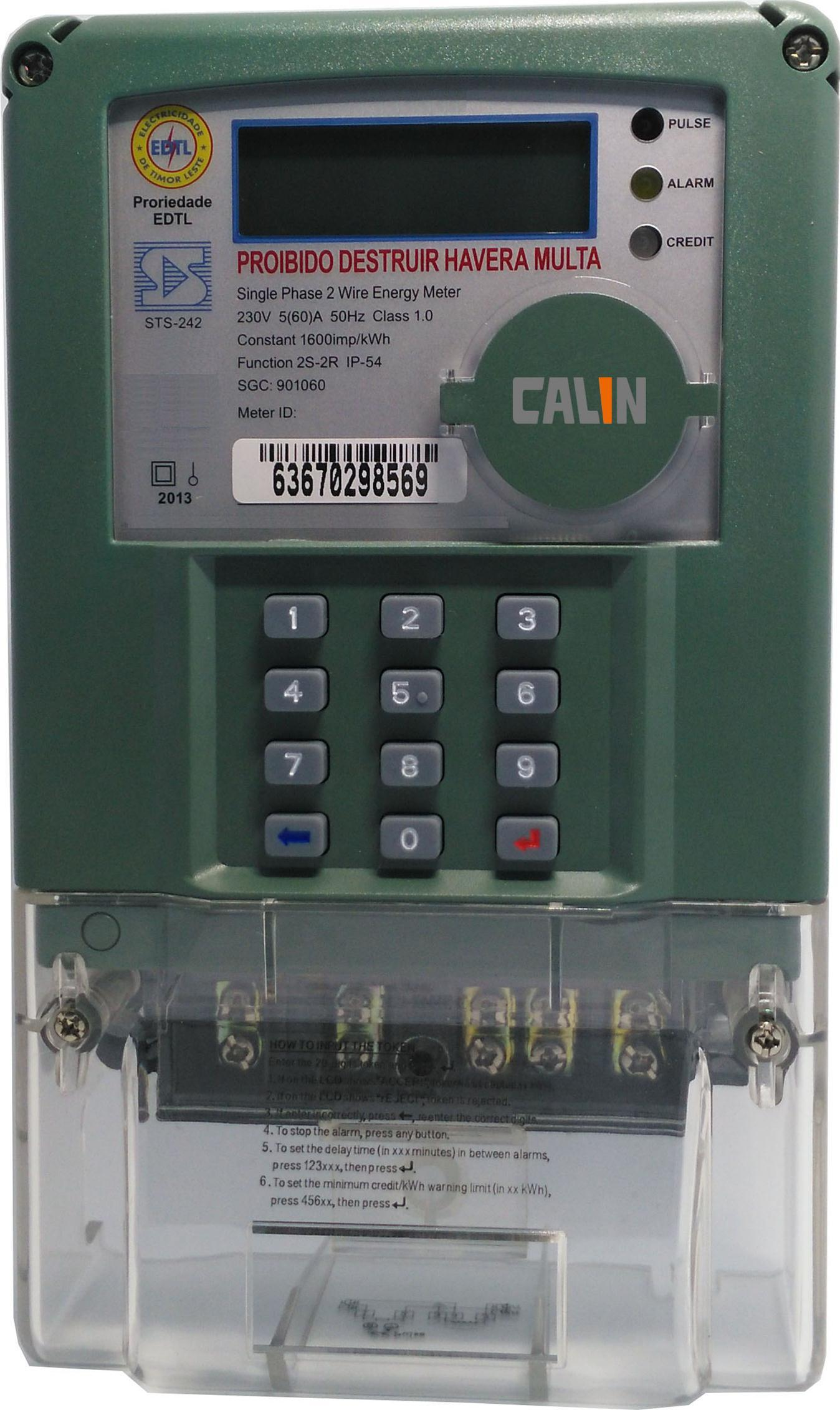 Single Phase Keypad Prepaid Energy Meter for Indonesia Market