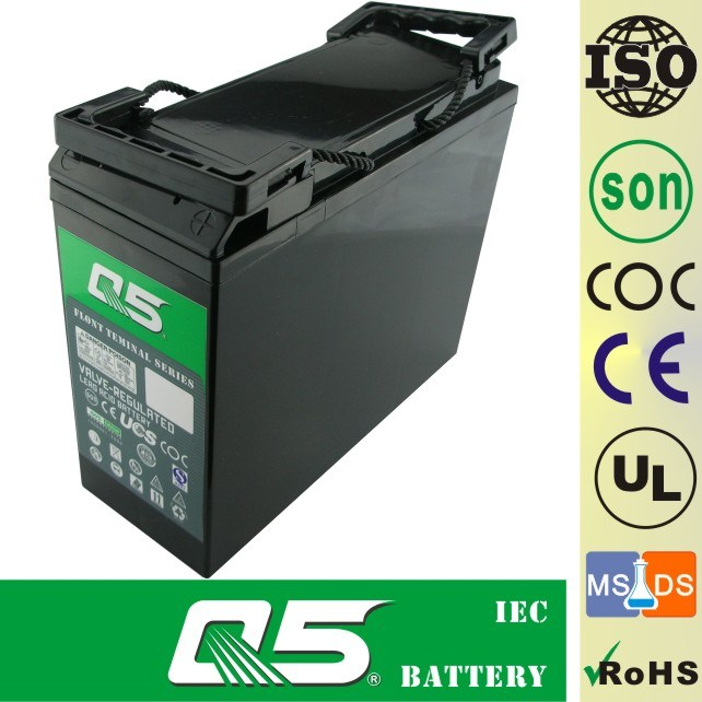 12V55AH Front Access Terminal AGM VRLA UPS EPS Battery Telecom Battery Communication Battery Power Cabinet Battery Telecommunication Projects Deep Cycle Battery