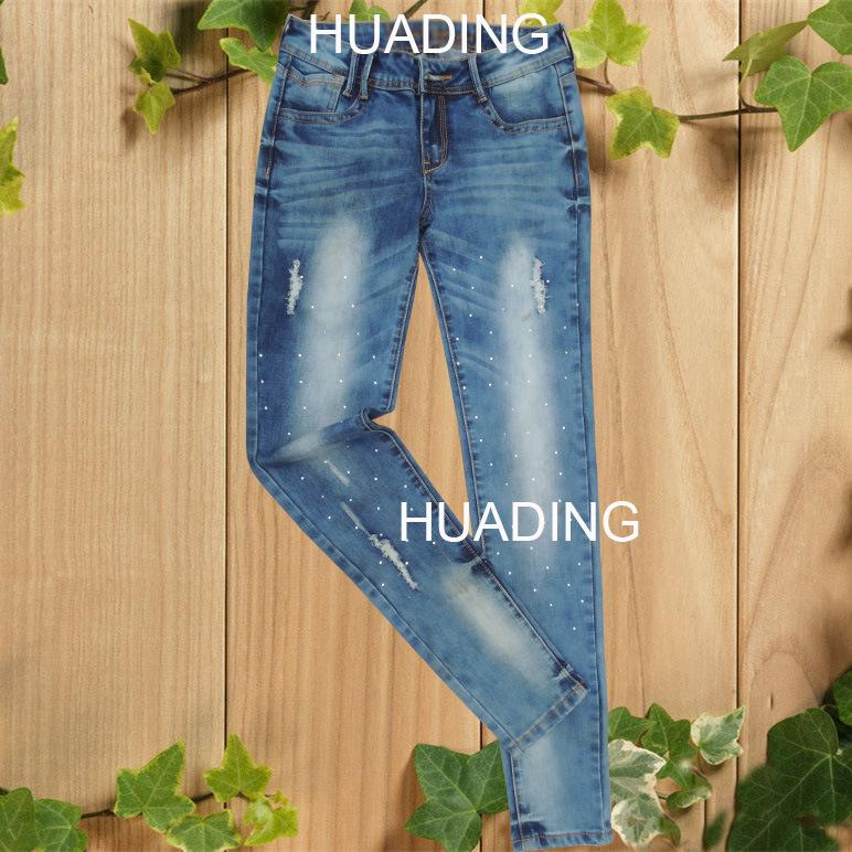 OEM Servie Fashion Skinny Women′s Denim Pants Jeans (HDLJ0039)
