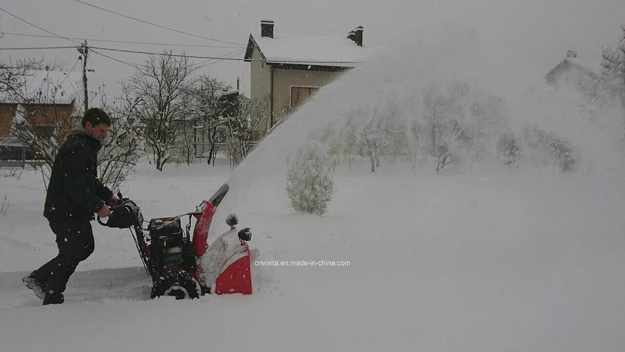 "Double Efficiency New Technique 420cc 30"" Width 3 Stage Snow Blower"