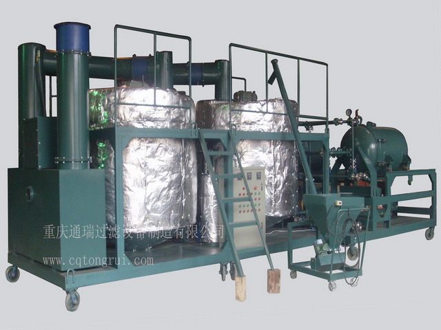 China used engine oil recycle machine china base oil for Used motor oil recycling equipment