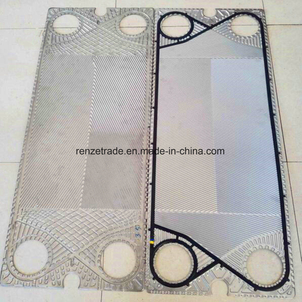 Sigma Plate Heat Exchanger Spare Parts 0.5mm/0.6mm Flow Channel Plate Replacement