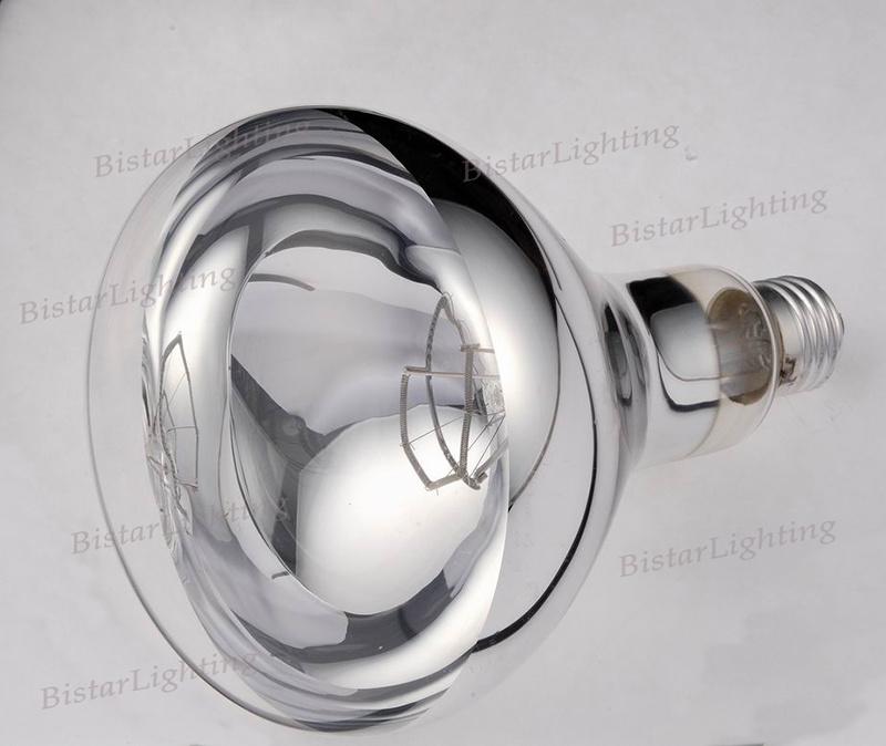 Infrared Heat Lamp Bulb Clear IR R125 R40 150W 175W 250W