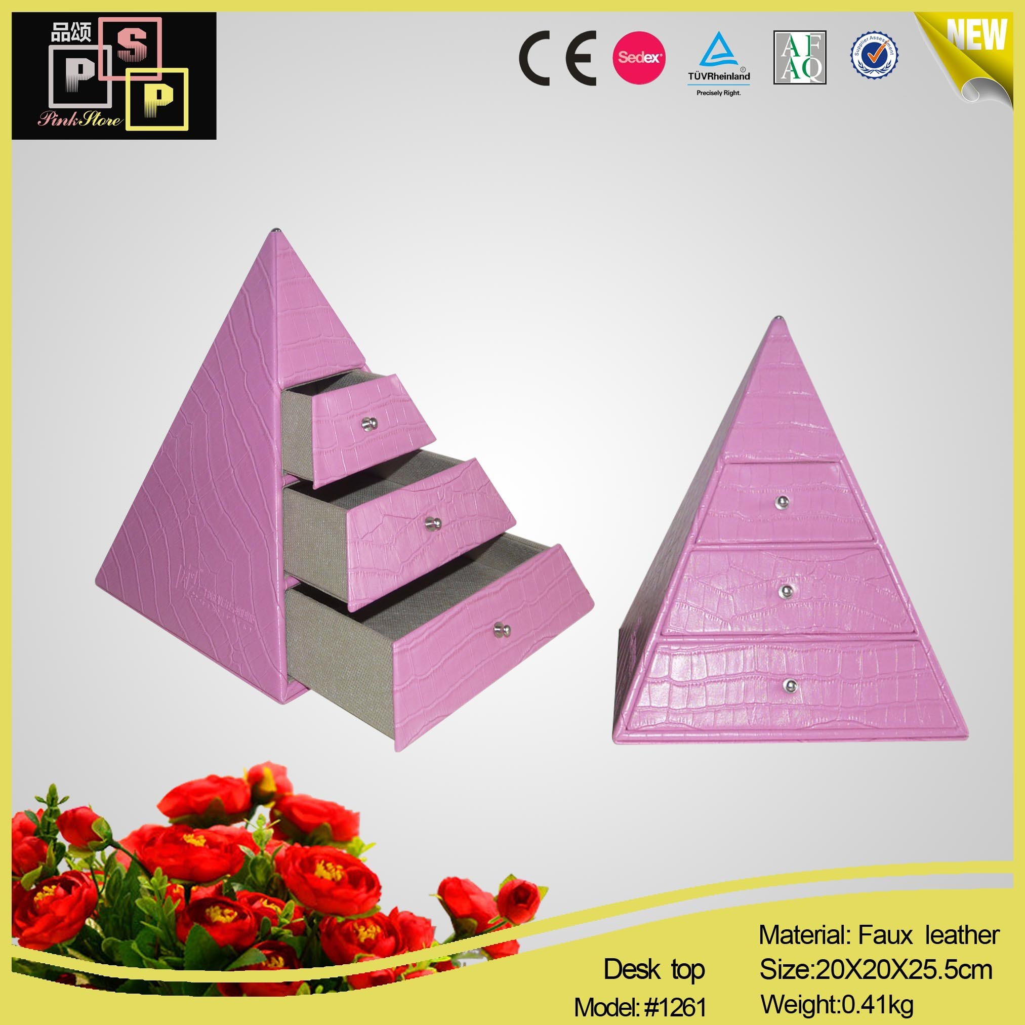 Triangle Variety Jewelry Desktop Organizer for Ladies (1261)
