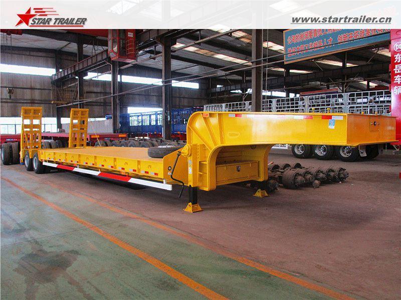 Heavy Haul Hydraulic Drop Deck/Lowbed Trailer for Truck