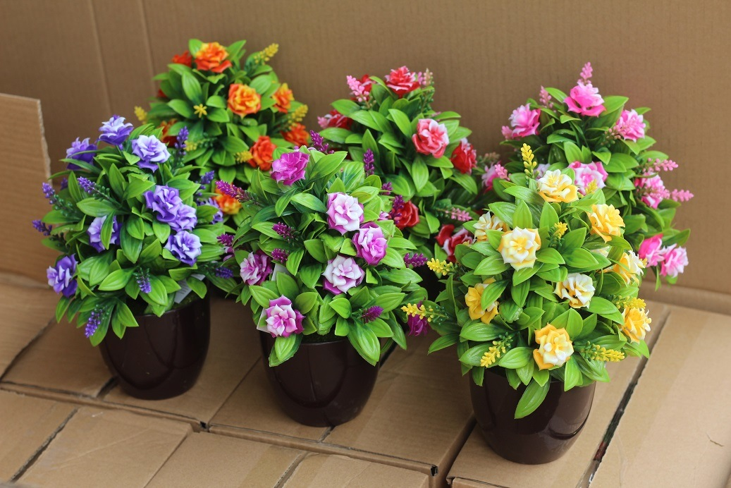 Artificial Plastic Plants and Flowers of Small Bonsai Plants Gu201704