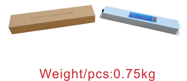 12V 8.3A 100W Waterproof Slim Size High Efficiency 90% LED Driver with Ce Bis
