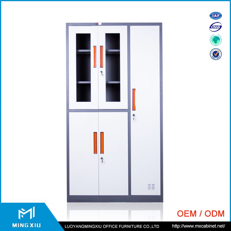 Special Design Adjustable Shelves Glass Door Metal File Cabinet / Steel File Cabinet Price