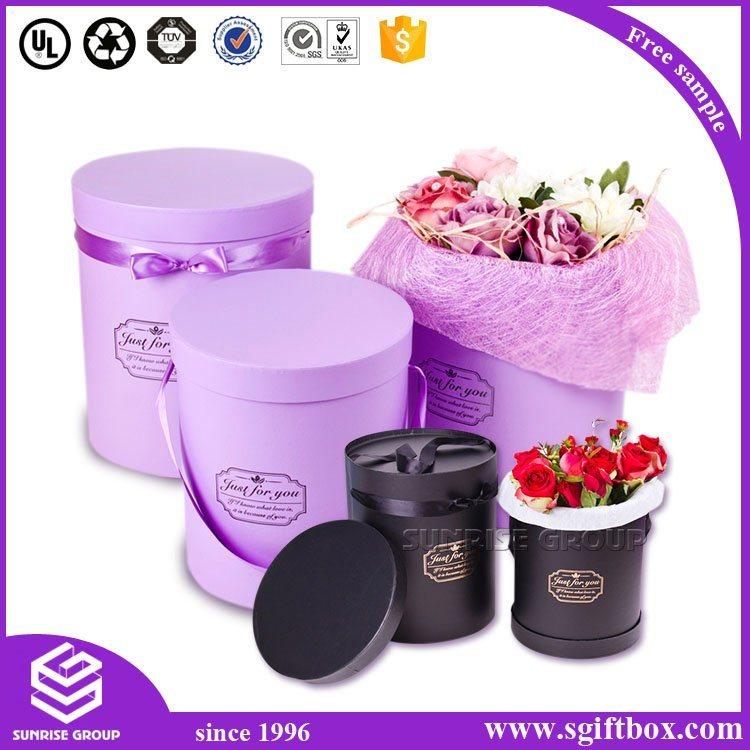 Rose Waterproof Round Tube Flower Paper Packaging Gift Box