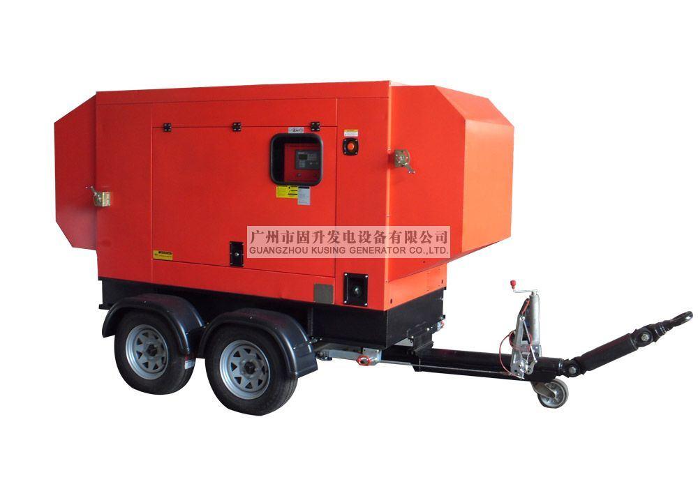 Trailer Diesel Sound Proof Generator/Diesel Silent Genset/Mobile Trailer Genset