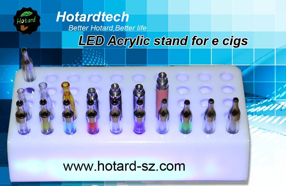 Wholesales 20 Types Unique Design E Cig Acrylic Display Stand (HT-01)