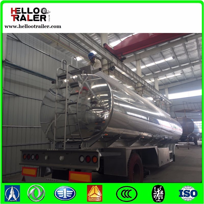 Double Axle 42000L Aluminum Alloy Fuel Tanker Semi Trailer
