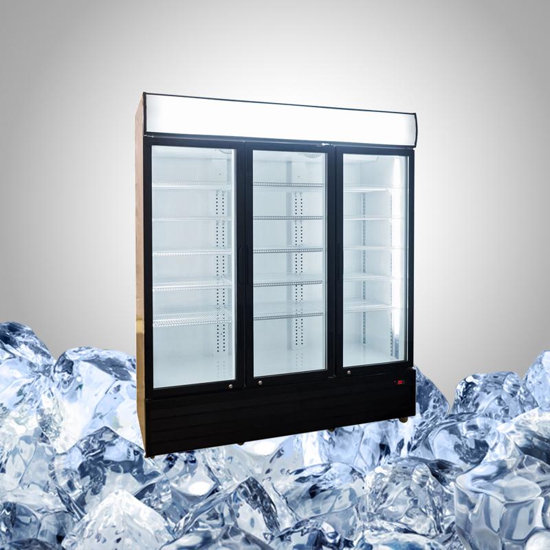 3 Glass Door Commercial Refrigerator