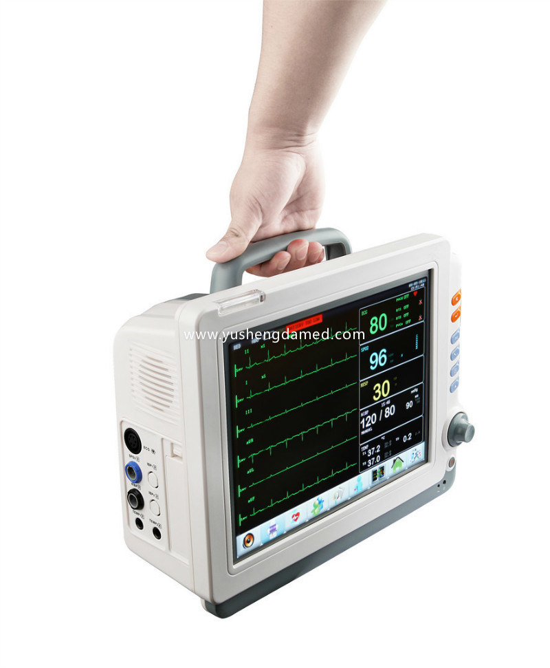 Ce Approved Hospital ICU 12.1 Inch Multi-Parameter Patient Monitor