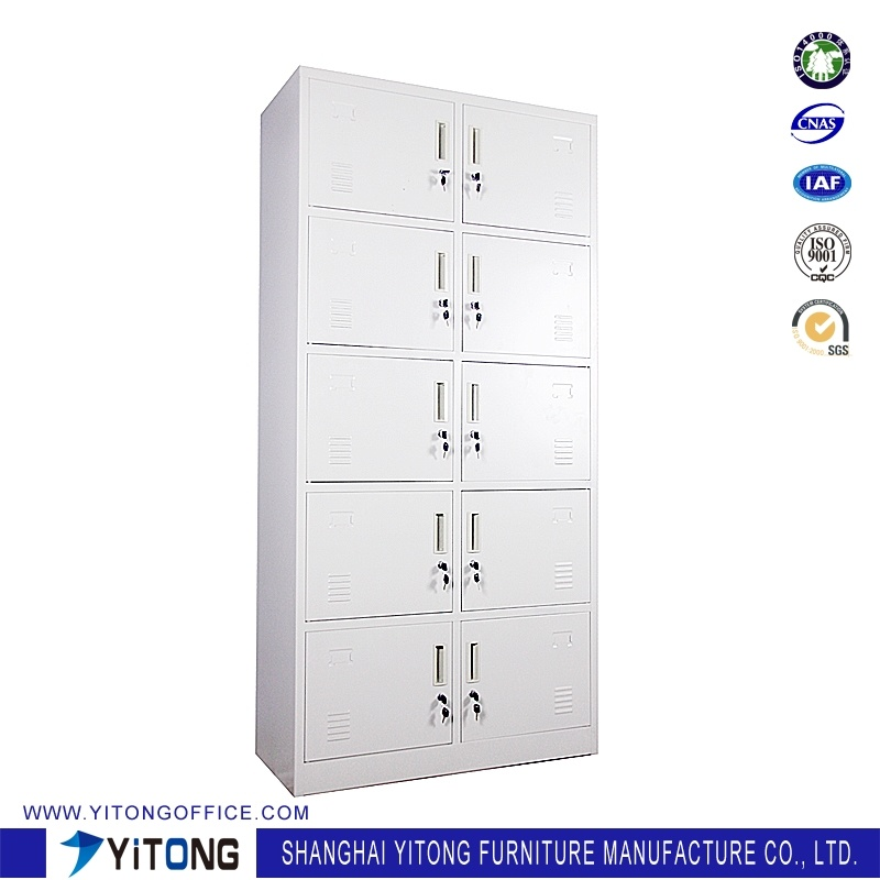 Yitong 10-Door Metal Storage Cabinet / Office Use Steel Locker
