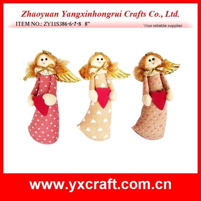 Christmas Decoration (ZY11S270-4-5) Christmas Angel Gift Bag Jute Bag