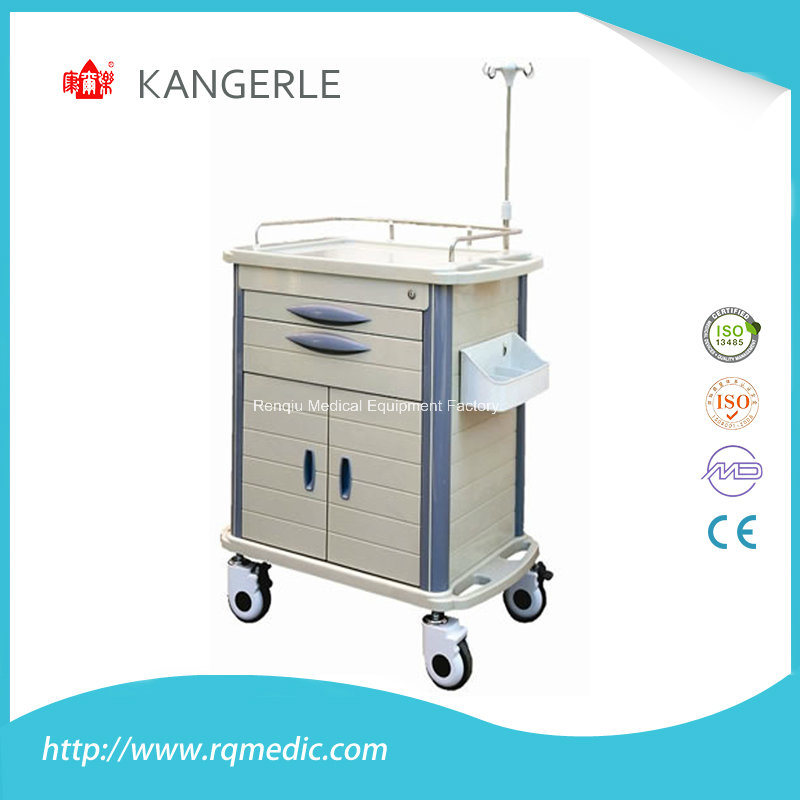 Ce/ISO ABS Medical Crash Cart/Hospital Cart/Emergency Trolley