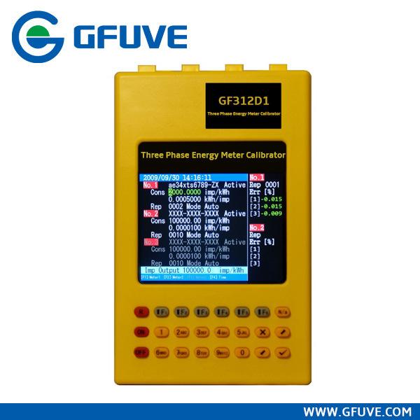 Hand-Held Three Phase Energy Meter Field Calibrator