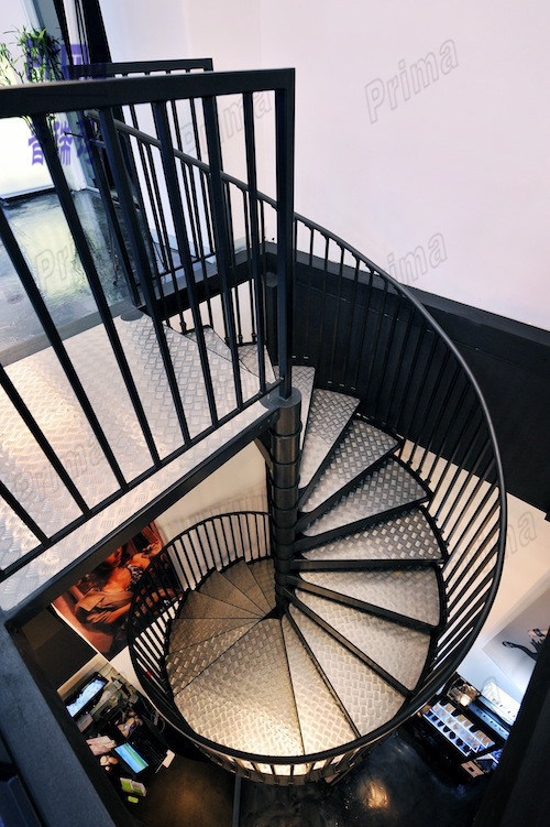 Steel Stair Outdoor Metal Stair Railing Spiral Staircase Pr S65