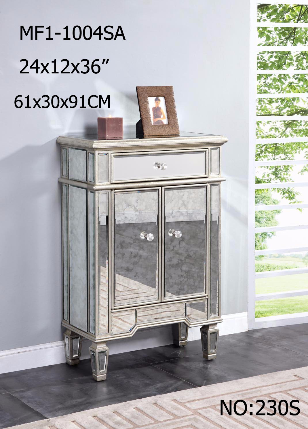 Living Room Mirrored Furniture with Drawer Cabinet