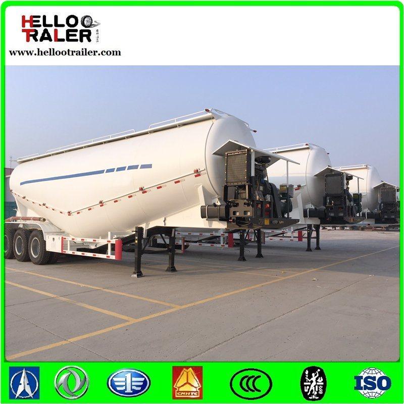 Golden 45cbm Dry Bulk Cement Trailer / Powder Transport Tanker Semi Trailer