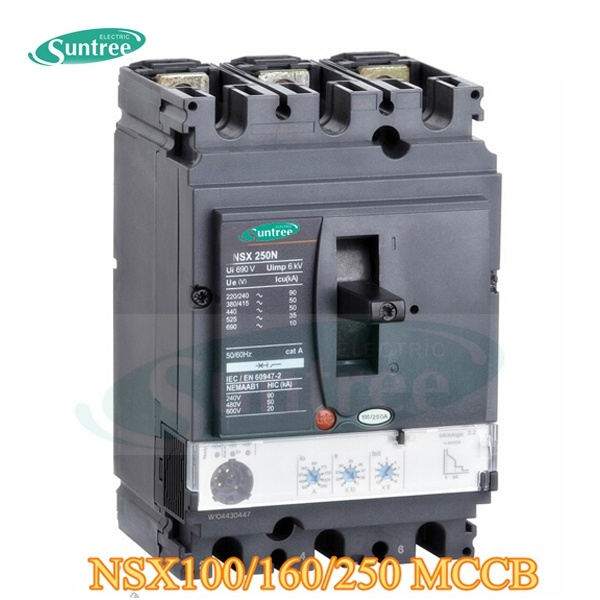 DC/AC 80A-1600A 3 Pole 4 Pole Moulded Case Circuit Breaker Ns Nsx MCCB