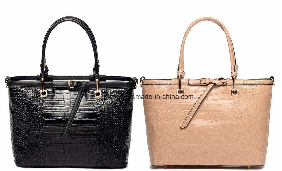 Classical Crocodile Grain PU Women Handbag Fashion Hand Bag