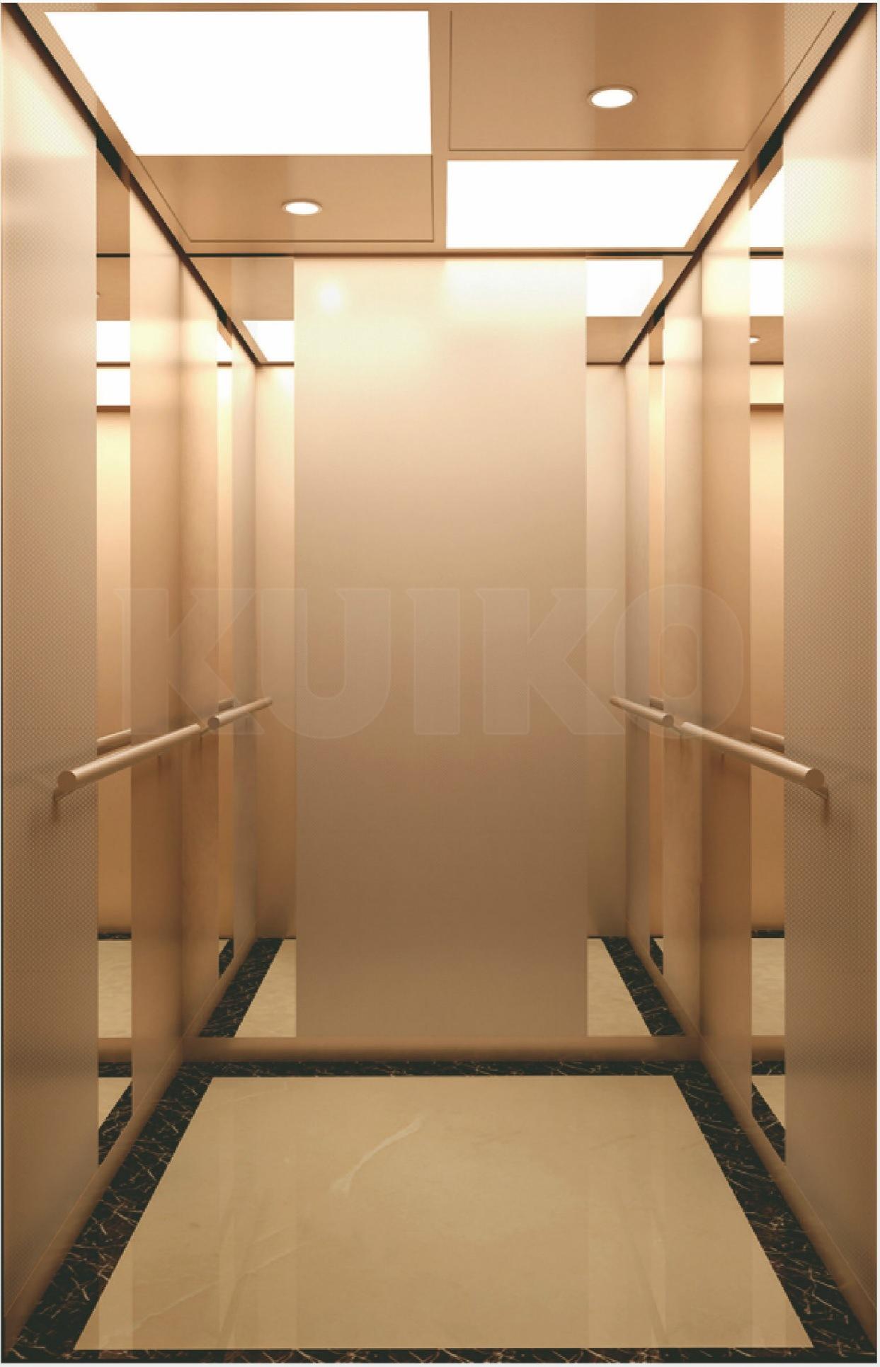 Business Elevator Rose-Golden Mirror Steel
