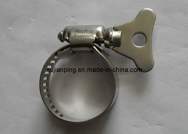 Stainless Steel Hose Clamp with Thumbscrew