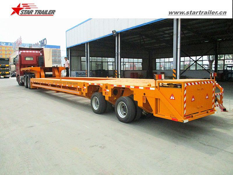 Heavy Haul Hydraulic Drop Deck/Lowbed Trailer for Truck