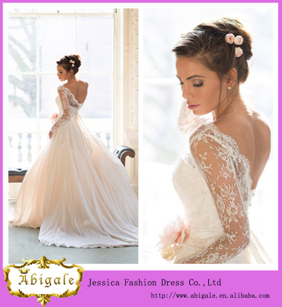 China newest model brand name floor length empire scoop for Brand name wedding dresses