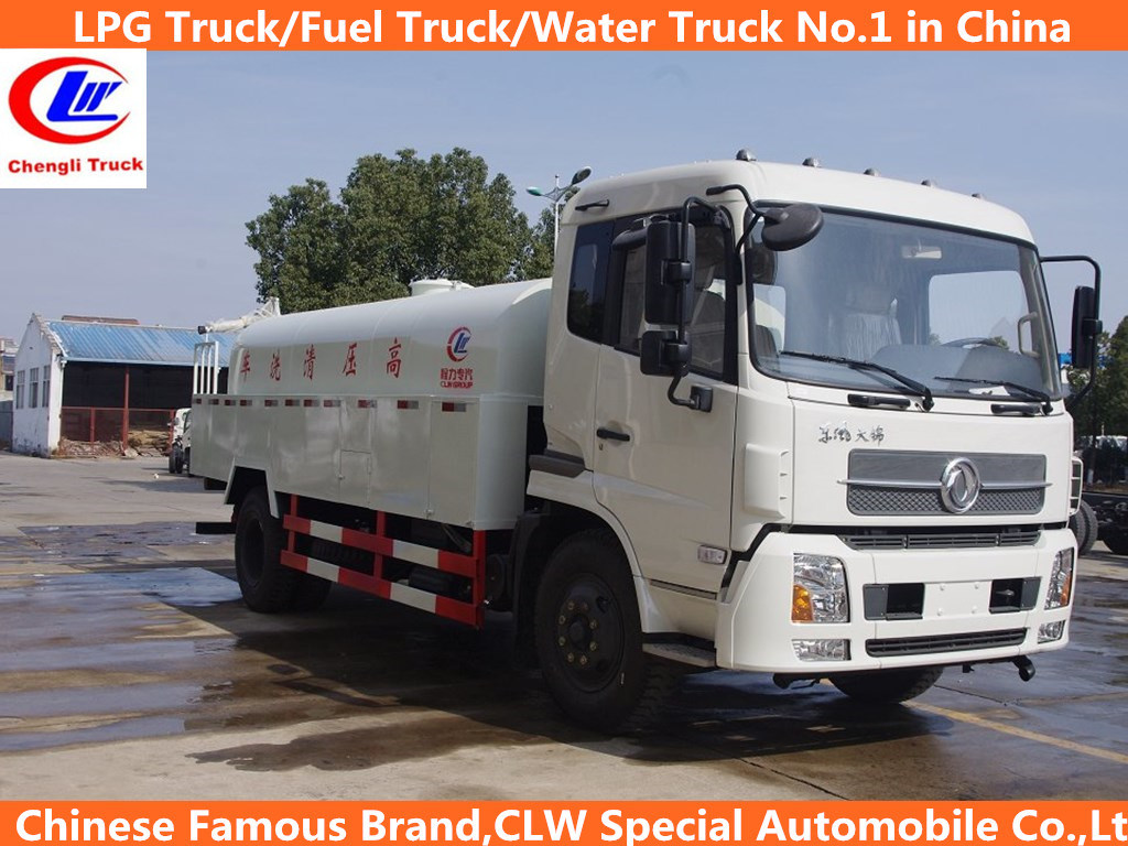 Heavy Duty Dongfeng 4*2 10 Cbm High-Presure Cleaning Truck
