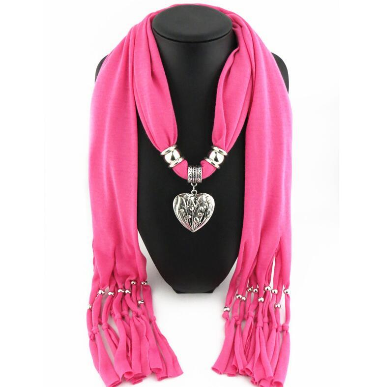 Fashion Jewelry Pendant Neck Lace Lady Scarf