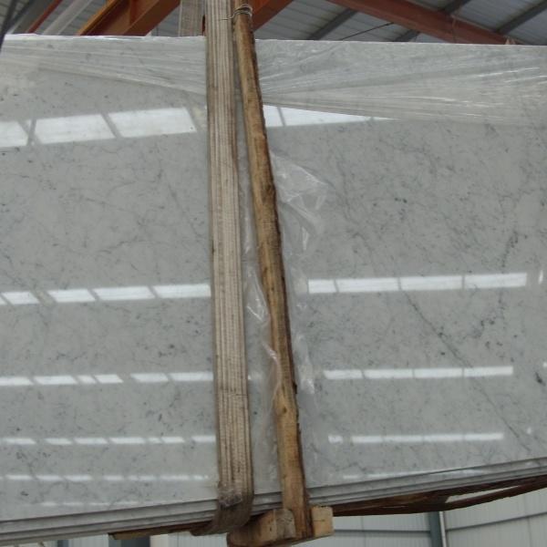 Polished Bianco Carrara White Marble Slabs
