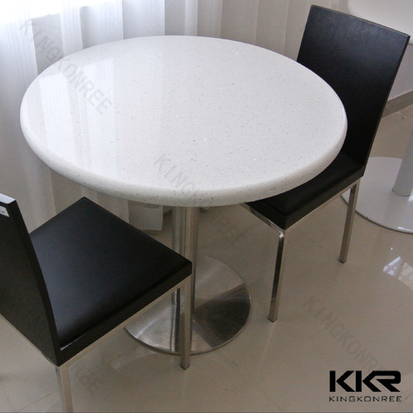 china solid surface artificial stone buffet cafeteria dining table