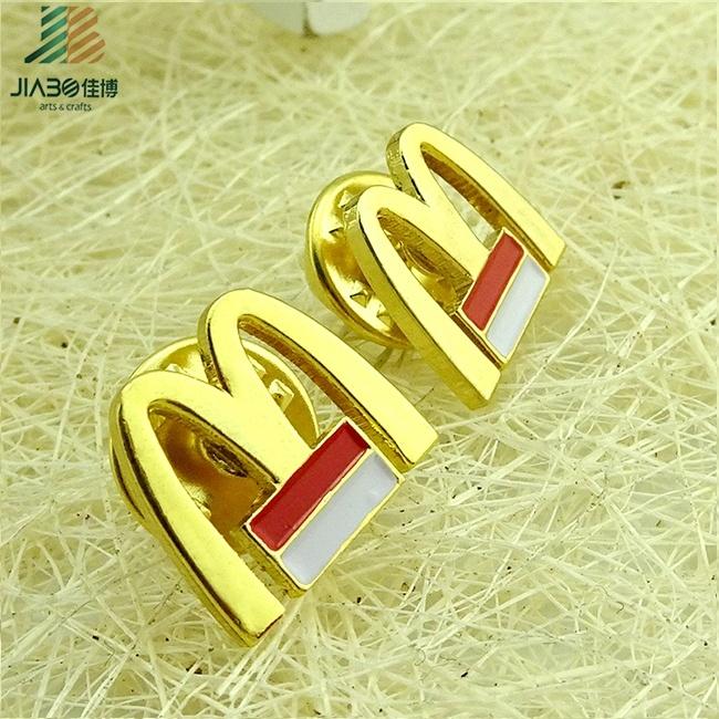 Famous Branded M Metal Poppy Lapel Pin