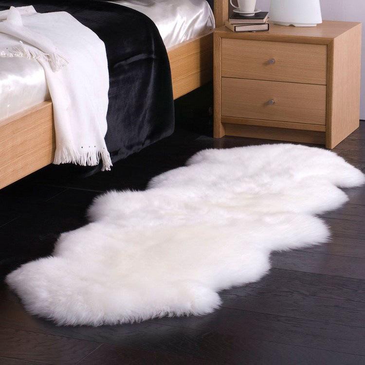Natural Australian Sheepskin Double Pelt Floor Carpet Sofa Cushion