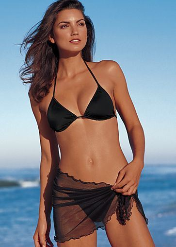 Black Bikini with Sarong (BKK10997F)