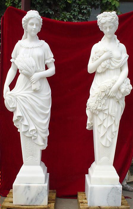 Marble Statue, Marble Sculpture, Stone Garden Statue (SK-2450)