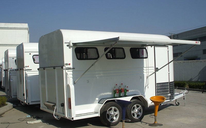 3 Horse Floats Angle Load Deluxe With Awning&Alloy Wheels (GW-3HAL)