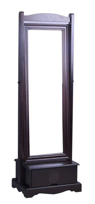 China wood floor stand dressing mirror