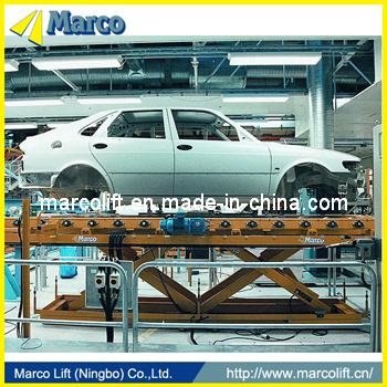 Marco Twin Scissor Lift Table in Automobile Production Line