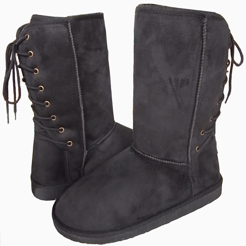 Snow boots with back lace up 129b china knit boots snow boots