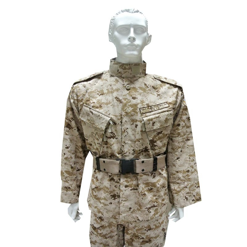 Rip-Stop Desert Army Combat Uniform of 65%Cotton and 35%Polyester