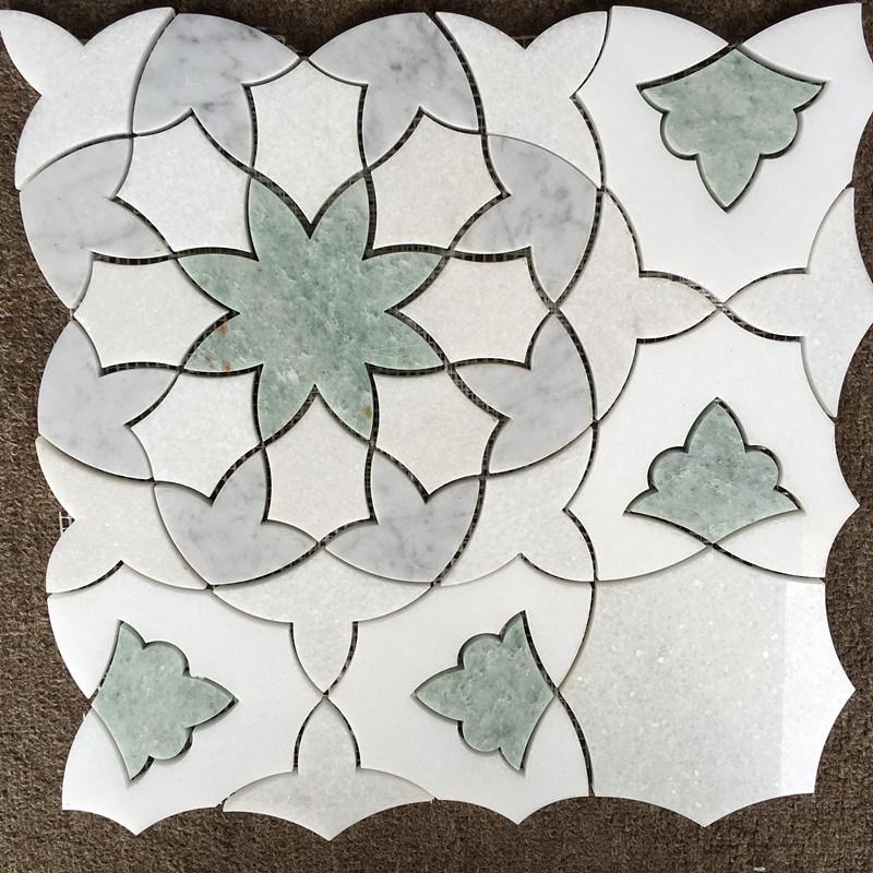 Marble Water Jet Medallion Natural Stone Mosaic Pattern