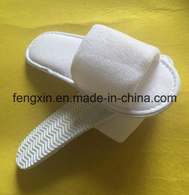 High Quality Logo Pringting White Disposable Hotel Slipper