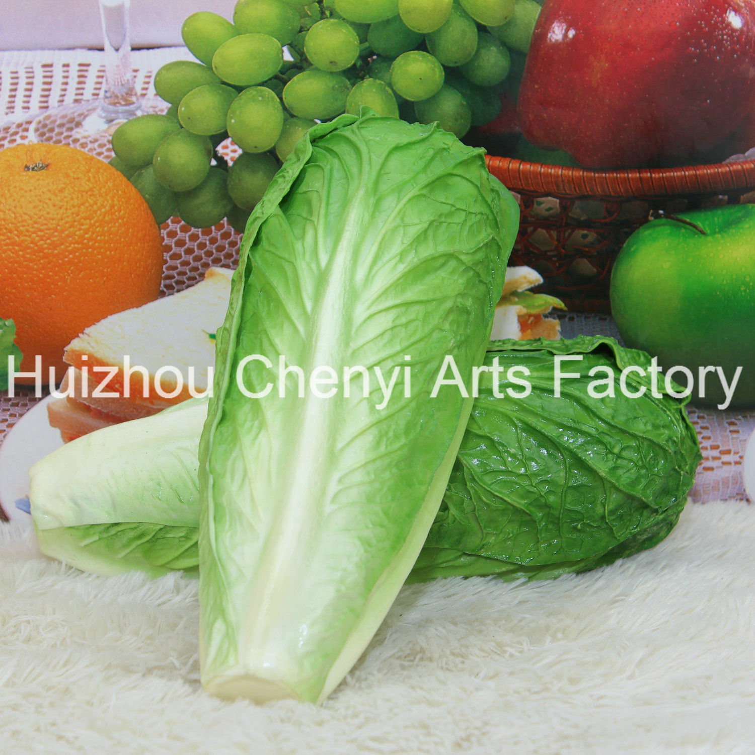 Green Artificial Vegetable PU Food Model