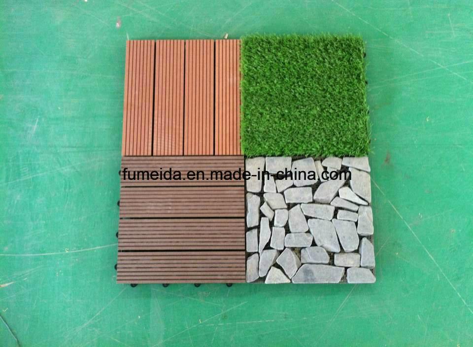 WPC Wood Plastic Composite Decking Floor Tile for Outdoor 300*300